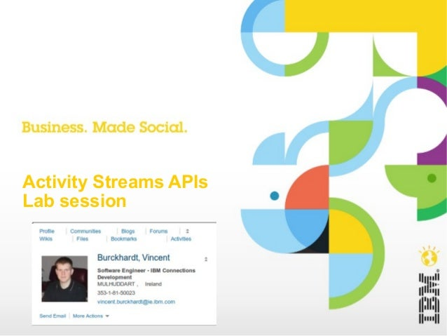 Activity Streams APIs Lab session