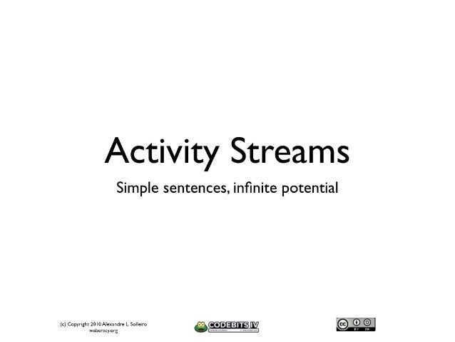 Activity Streams - Simple Sentences, Infinite Potential