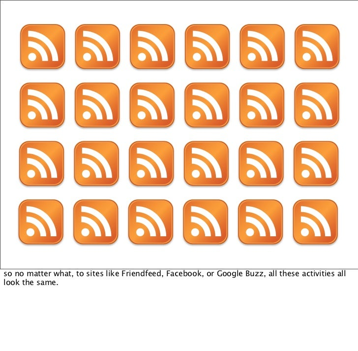 icons by Fast Icon   so how do you differentiate all these different feeds when you only have one basic format?
