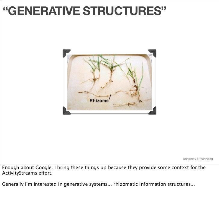 """GENERATIVE STRUCTURES""                                                                                     University of ..."