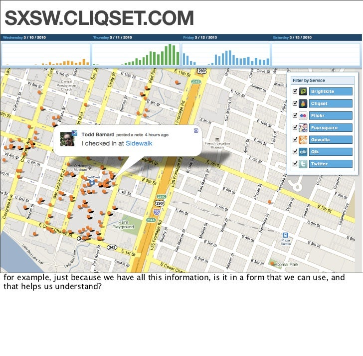 """""""      I can see a world where eventually my children will look back at        my Foursquare data and say: 'This is Kevin'..."""