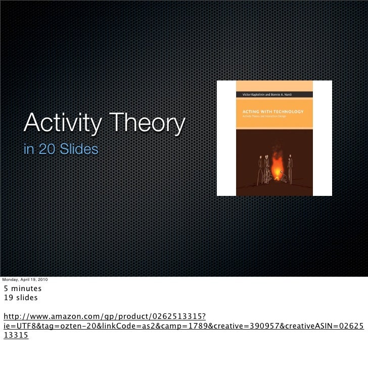 Activity Theory  in 20 Slides     Search SlideShare.net