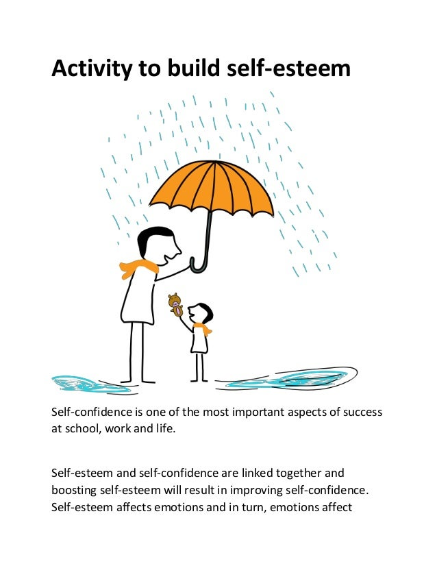 the importance of self esteem in an individuals success Free essay: individuals with low self-esteem often suffer from feelings of inferiority and depression in these cases, academic success is certainly.
