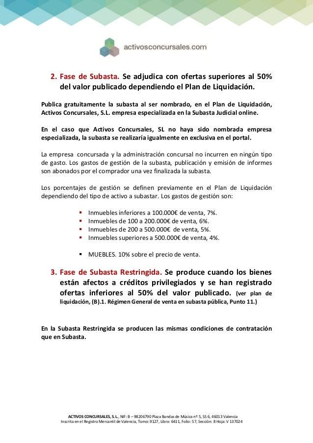 Activos concursales s l condiciones contrataci n 2013 for Registro de bienes muebles de valencia