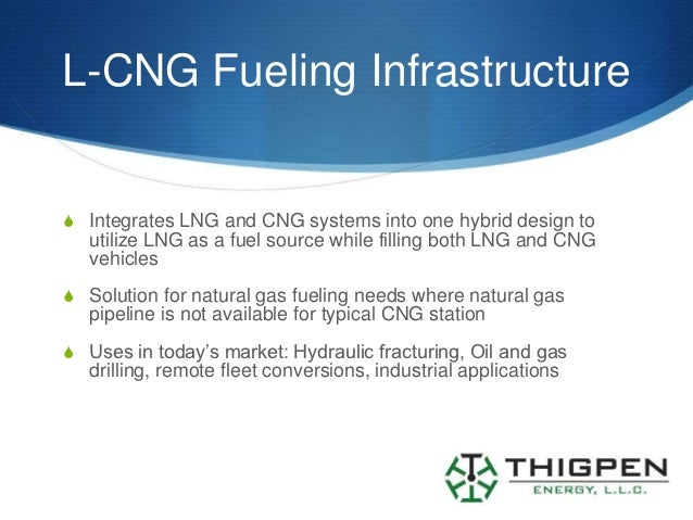 L-CNG Fueling InfrastructureS Integrates LNG and CNG systems into one hybrid design to   utilize LNG as a fuel source whil...