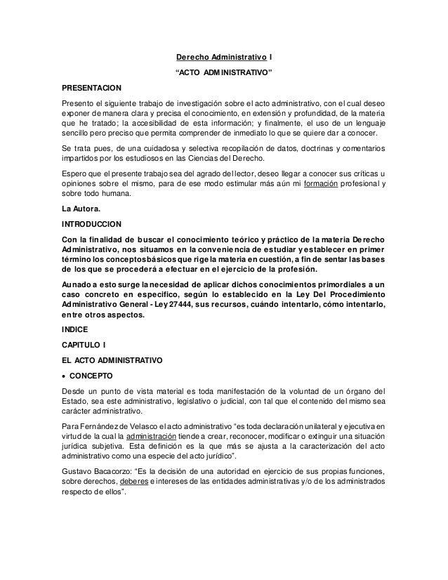 Acto administrativo i
