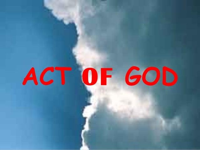 Act of god Slide 2