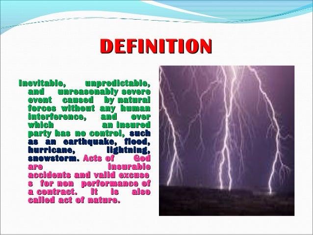 Act of god Slide 3