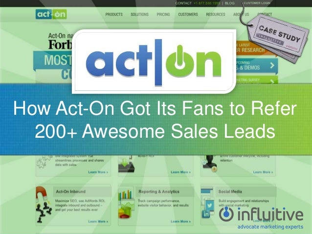 How Act-On Got Its Fans to Refer 200+ Awesome Sales Leads