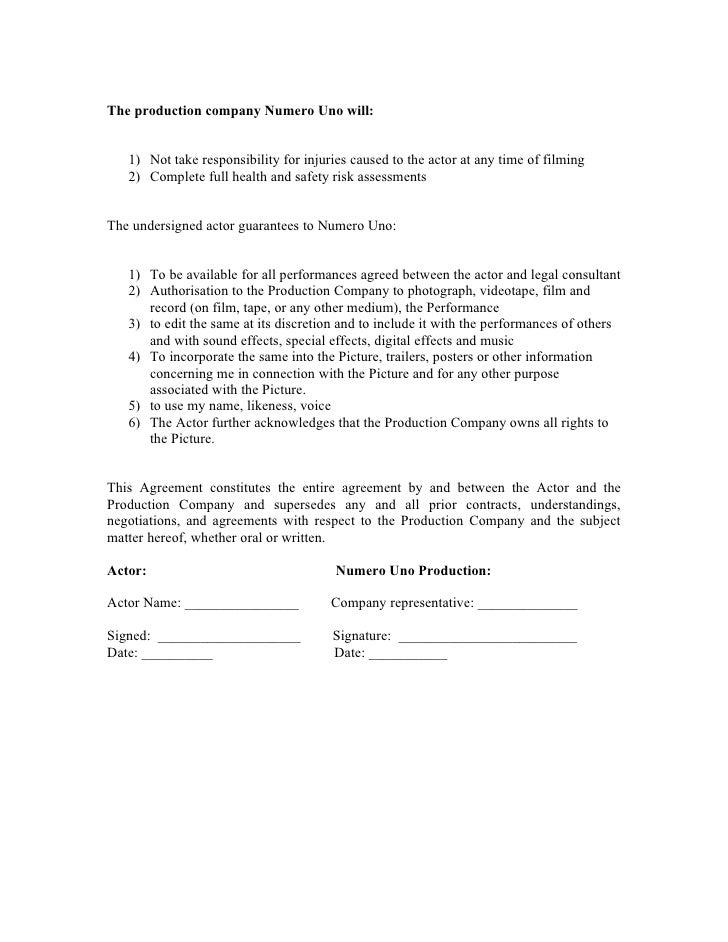 SlideShare  Film Contract Templates