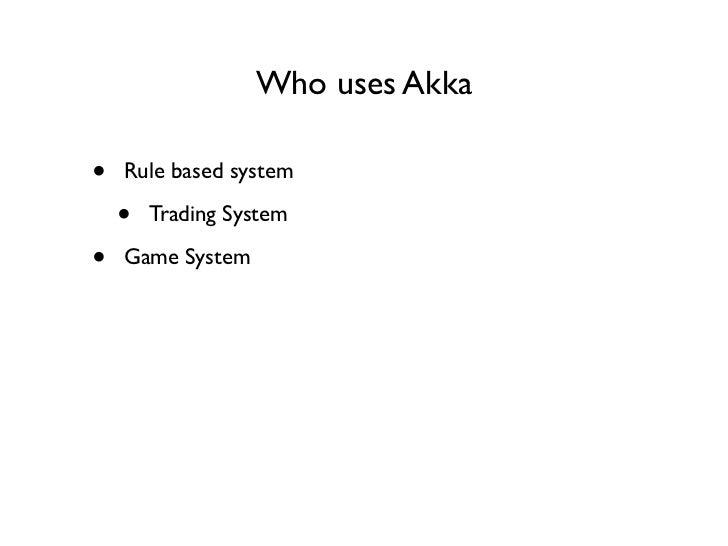 Akka trading system
