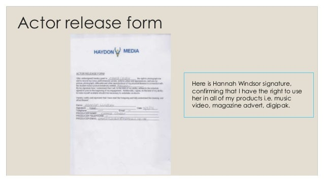 Actor release form and laws – Music Release Form