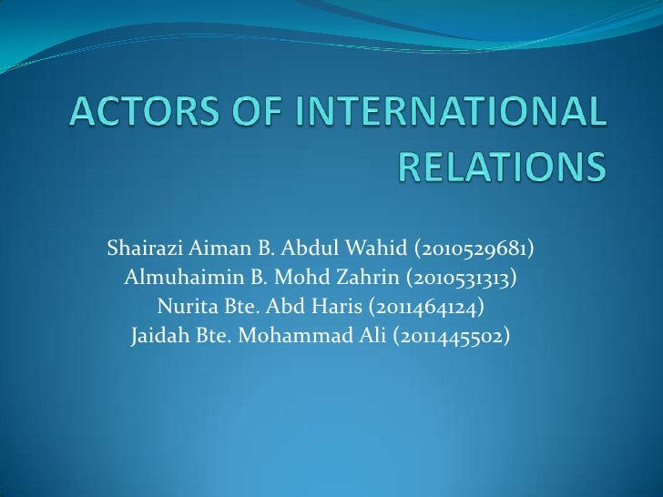 Actors of international relations