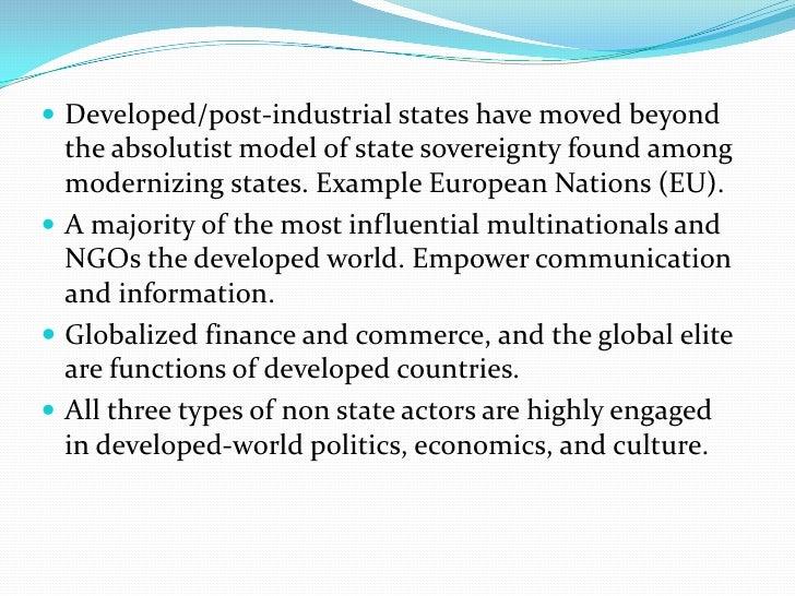 post industrial economy examples