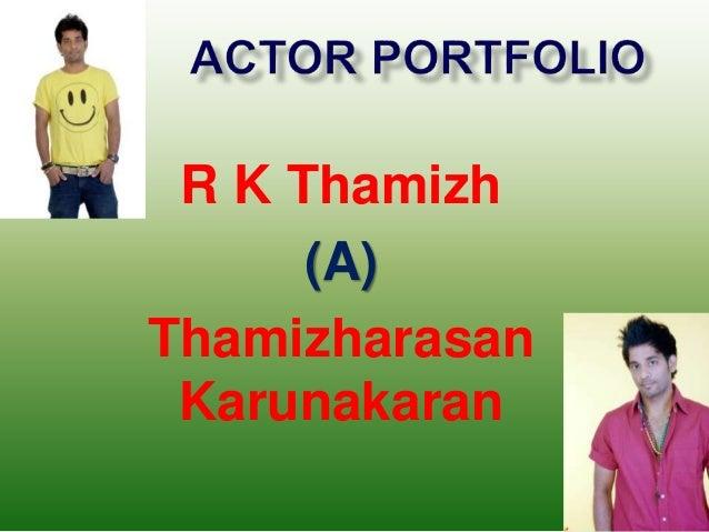 R K Thamizh (A) Thamizharasan Karunakaran