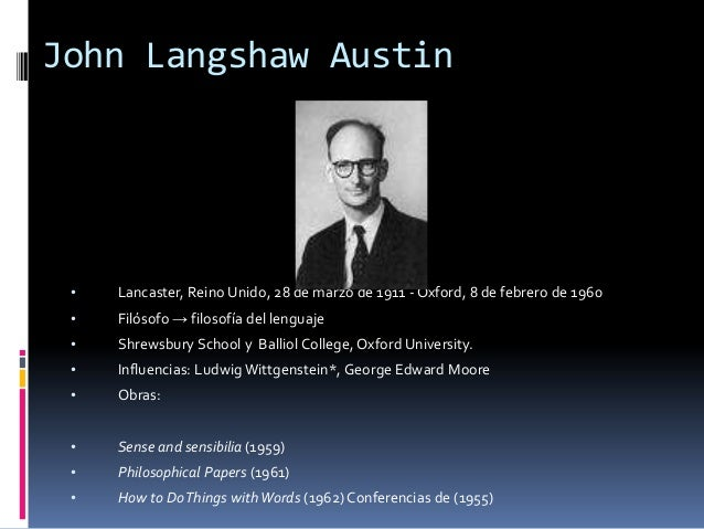 john austin philosophical papers John langshaw austin from garth kemerling's philosophy pages excerpt: j l austin was born in lancaster and educated at oxford, where he became a professor of philosophy following several years of service in british intelligence during world war ii.
