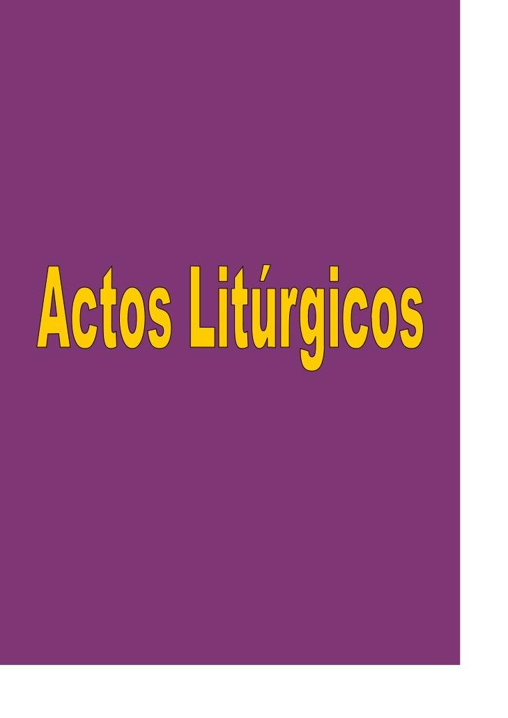 Actosliturgicos