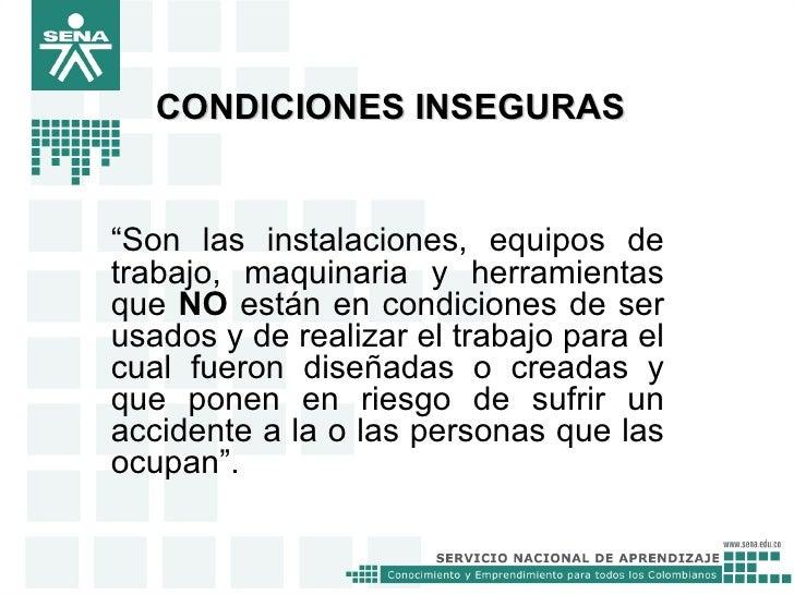 Actos y condiciones inseguras Slide 3