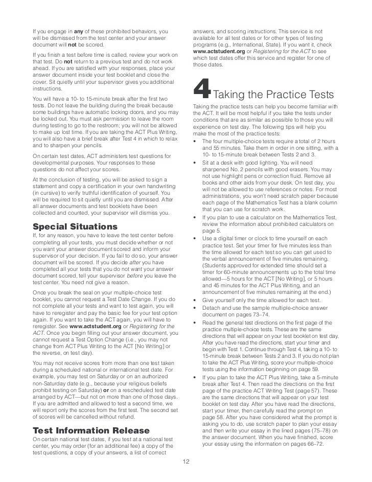 Act practice test ashx