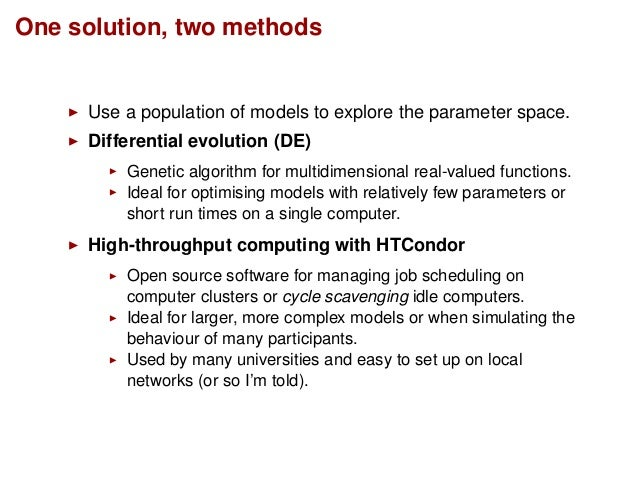 Two methods for optimising cognitive model parameters Slide 3