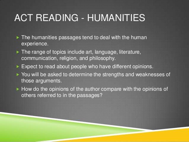 Act reading humanities Slide 2