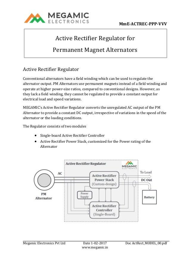 MmE-ACTREC-PPP-VVV Megamic Electronics Pvt Ltd Date 1-02-2017 Doc ActRect_MODEL_00.pdf www.megamic.in Active Rectifier Reg...