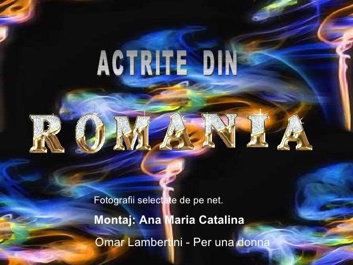 Omar Lambertini - Per una donna ACTRITE  DIN  Fotografii selectate de pe net. Montaj: Ana Maria Catalina