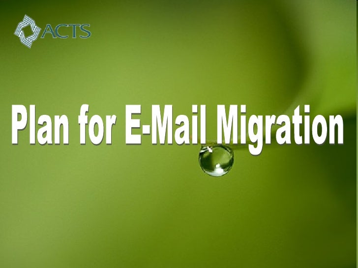 Plan for E-Mail Migration