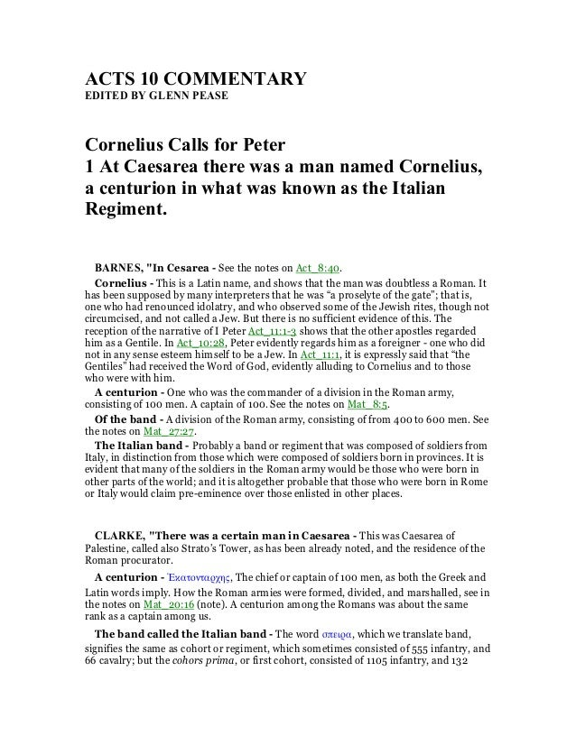 Acts 10 commentary acts 10 comme tary edited by gle pease cornelius calls for peter 1 at caesarea there sciox Image collections