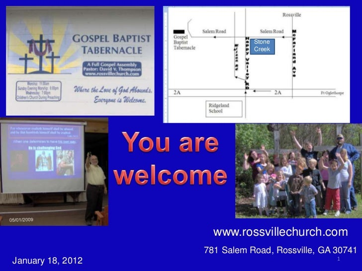 Stone                              Creek                     www.rossvillechurch.com                   781 Salem Road, Ros...