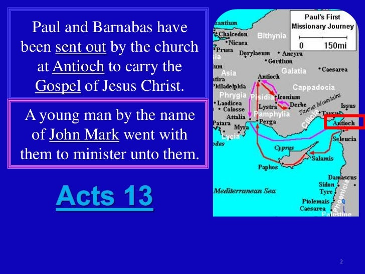 Acts 13c Pauls First Missionary Journey