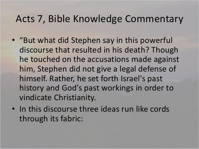 Acts 7 israel always rejects god the 1st time then 2nd coming jo 10 acts 7 bible knowledge commentary sciox Image collections