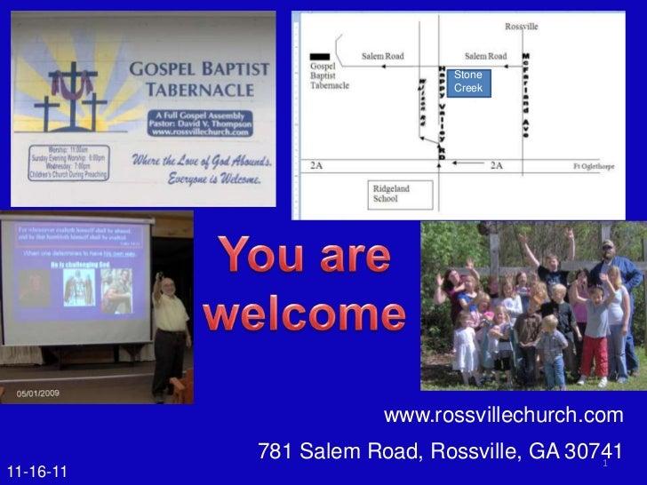 Stone                             Creek                       www.rossvillechurch.com           781 Salem Road, Rossville,...