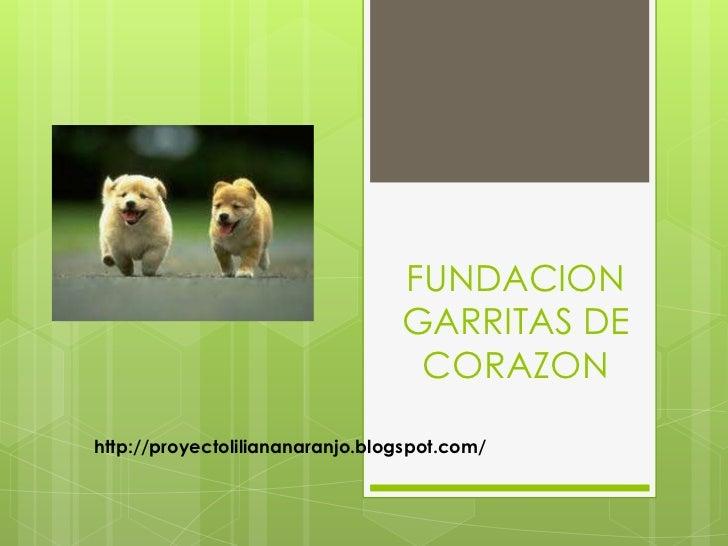 FUNDACION                                 GARRITAS DE                                  CORAZONhttp://proyectoliliananaranj...