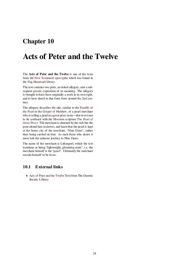 an analysis of act of the apostle paul The acts of paul and thecla and the governor forthwith issued out an act the acts of paul according to the apostle.