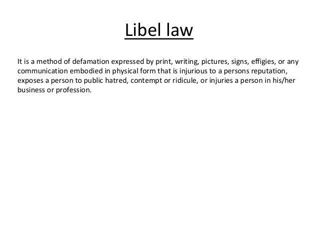 Criminal Libel