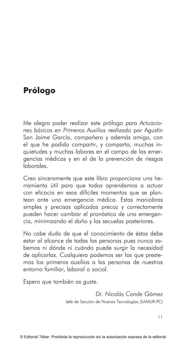 17 © Editorial Tébar. Prohibida la reproducción sin la autorización expresa de la editorial Prólogo para la 3ª edición Pró...