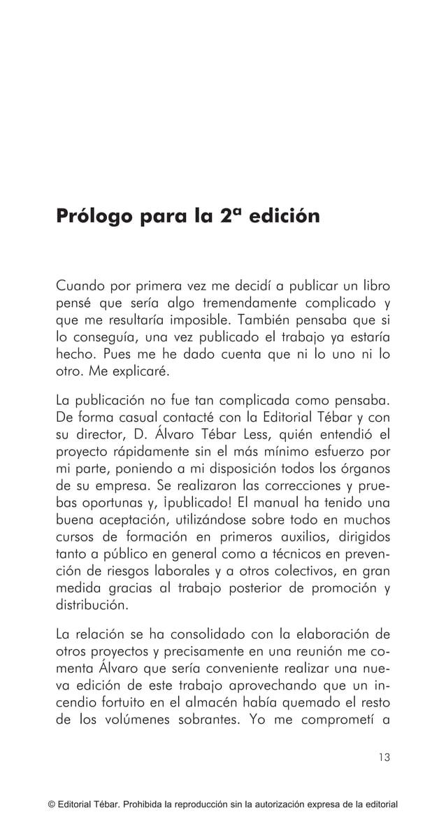 19 PRÓLOGO PARA LA 3ª EDICIÓN © Editorial Tébar. Prohibida la reproducción sin la autorización expresa de la editorial Psi...