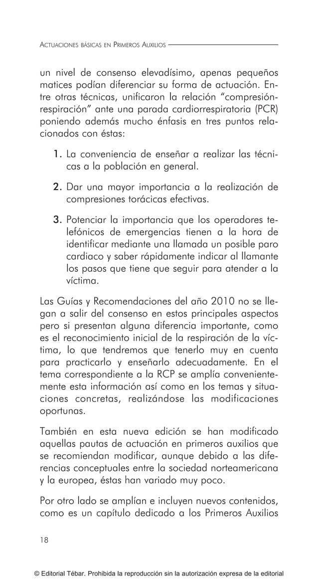 25 © Editorial Tébar. Prohibida la reproducción sin la autorización expresa de la editorial Tema 1 Introducción al socorri...