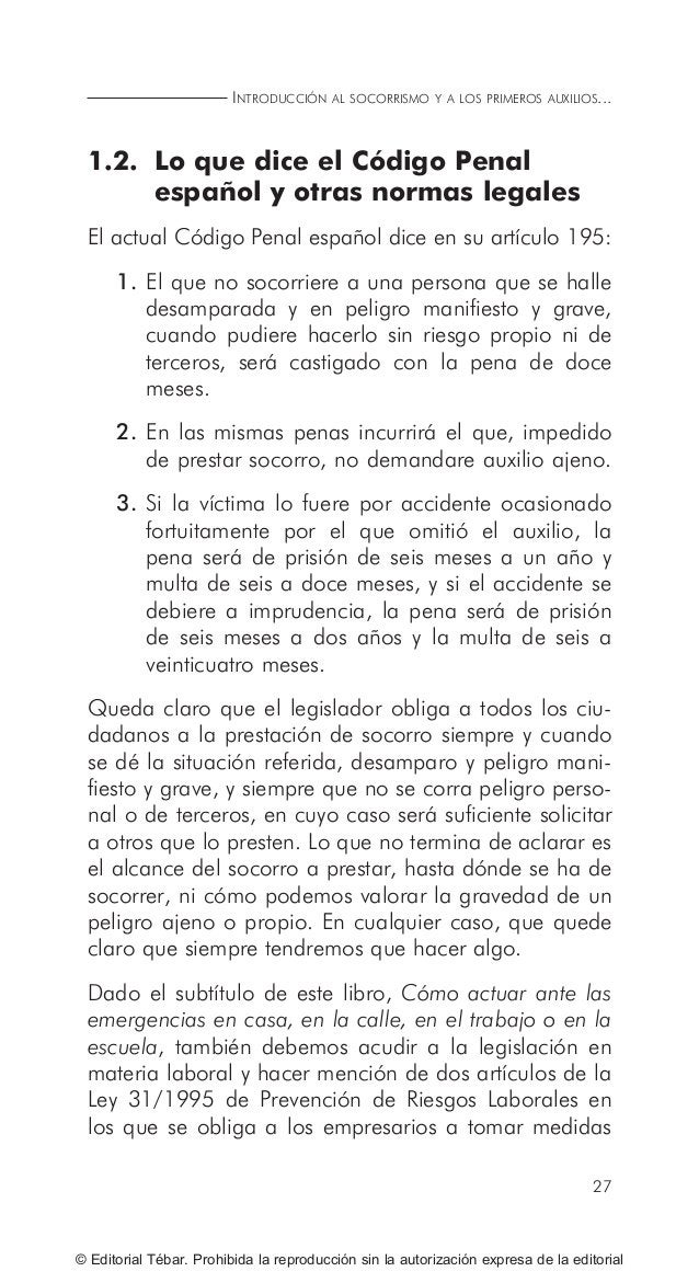 ACTUACIONES BÁSICAS EN PRIMEROS AUXILIOS 34 © Editorial Tébar. Prohibida la reproducción sin la autorización expresa de la...