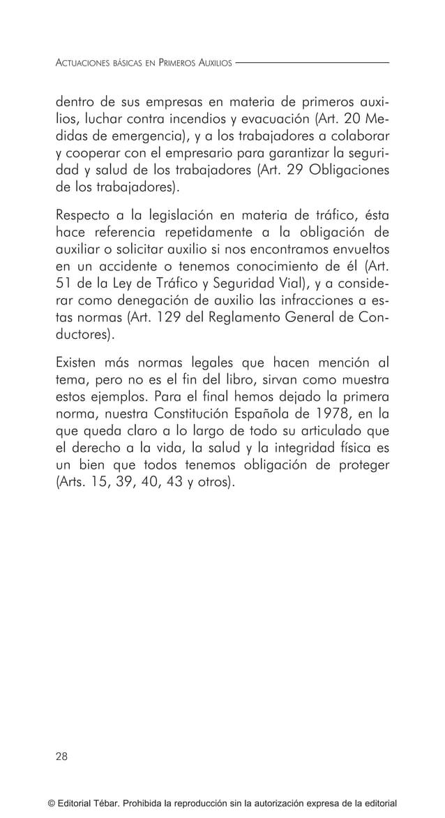 35 ¿QUÉ ES LO PRIMERO QUE TENGO QUE HACER ANTE UN ACCIDENTE? © Editorial Tébar. Prohibida la reproducción sin la autorizac...