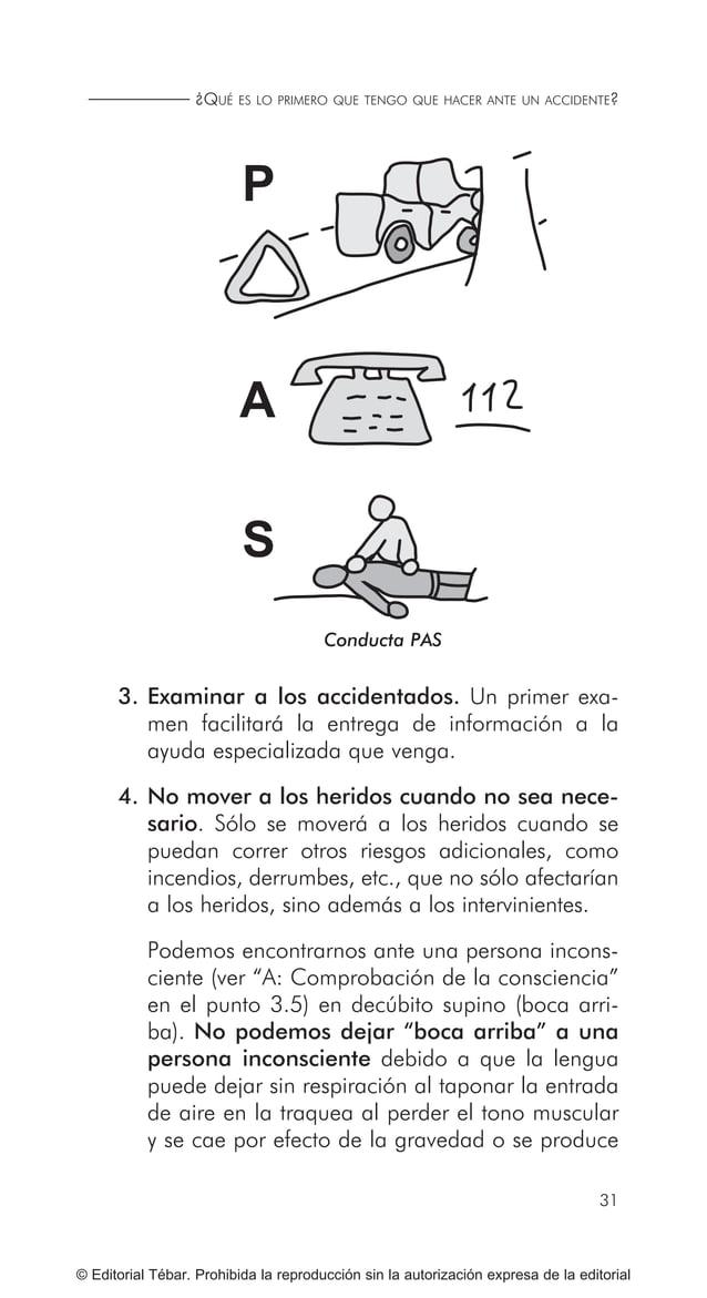 39 RECONOCIMIENTO DE LOS SIGNOS VITALES... © Editorial Tébar. Prohibida la reproducción sin la autorización expresa de la ...