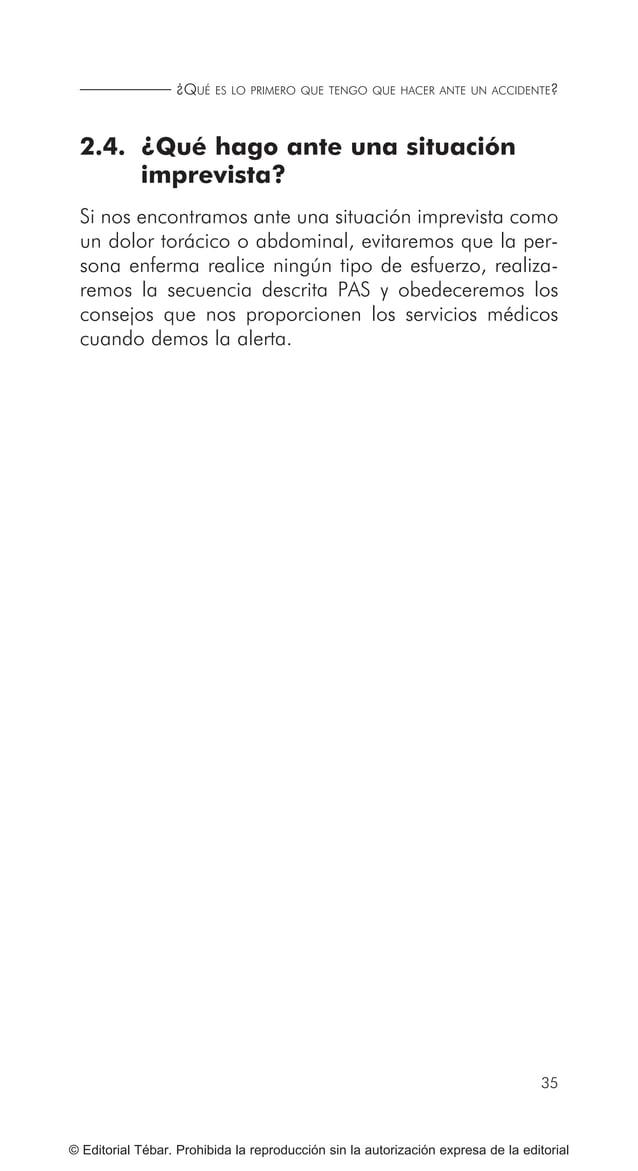 43 RECONOCIMIENTO DE LOS SIGNOS VITALES... © Editorial Tébar. Prohibida la reproducción sin la autorización expresa de la ...