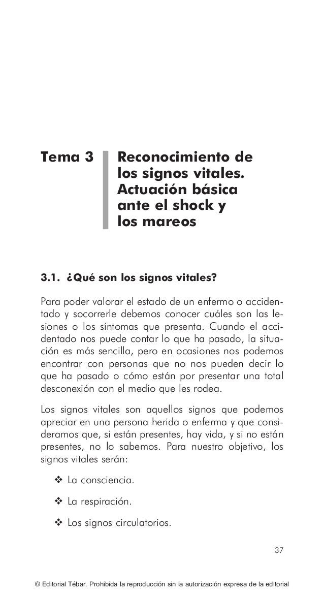 ACTUACIONES BÁSICAS EN PRIMEROS AUXILIOS 46 © Editorial Tébar. Prohibida la reproducción sin la autorización expresa de la...
