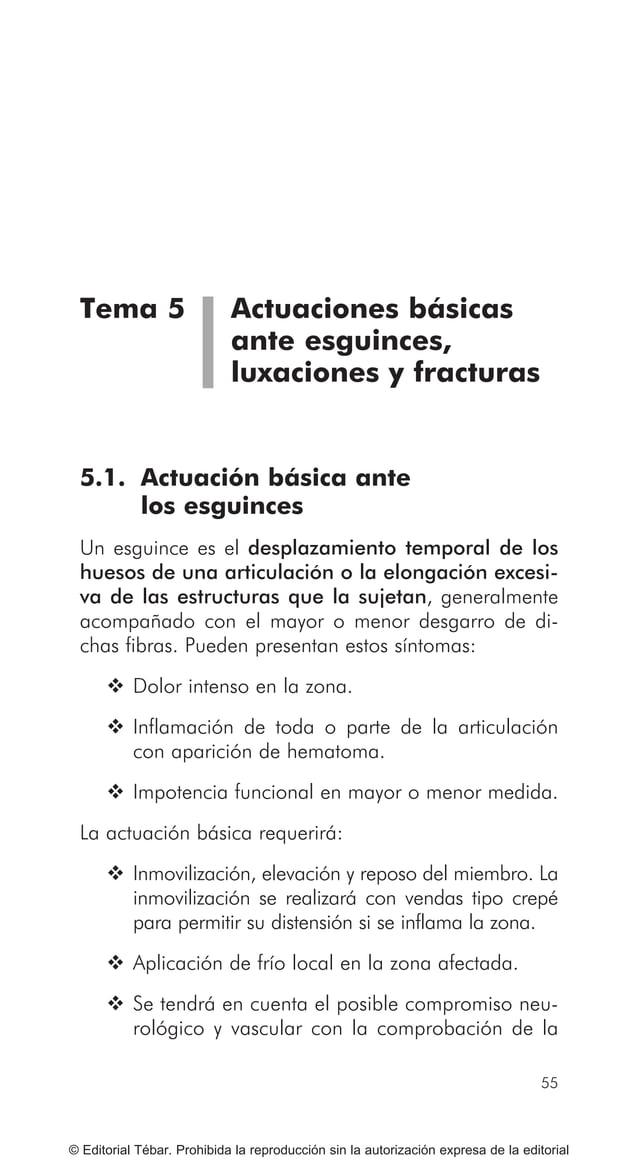 65 MOVILIZACIÓN Y TRANSPORTE DE HERIDOS O ENFERMOS © Editorial Tébar. Prohibida la reproducción sin la autorización expres...