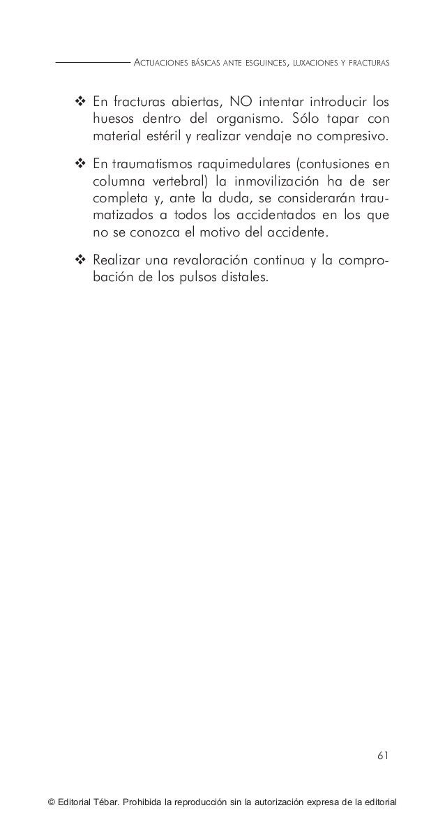71 © Editorial Tébar. Prohibida la reproducción sin la autorización expresa de la editorial Tema 7 Actuaciones básicas ant...