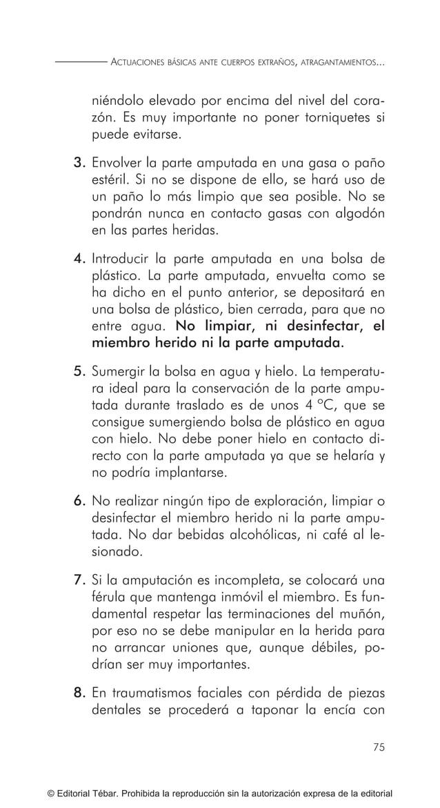 85 © Editorial Tébar. Prohibida la reproducción sin la autorización expresa de la editorial Tema 9 Actuaciones básicas ant...
