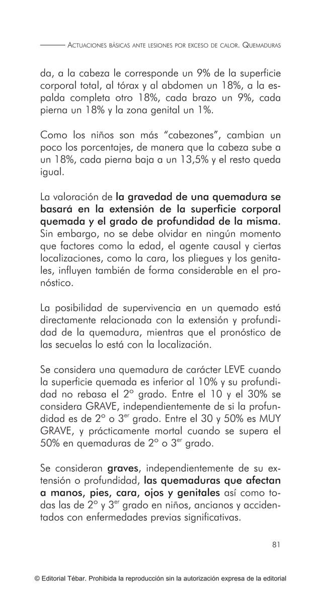 91 ACTUACIONES BÁSICAS ANTE ACCIDENTES ELÉCTRICOS © Editorial Tébar. Prohibida la reproducción sin la autorización expresa...
