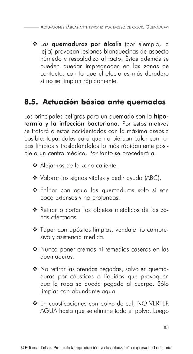 93 ACTUACIONES BÁSICAS ANTE ACCIDENTES ELÉCTRICOS © Editorial Tébar. Prohibida la reproducción sin la autorización expresa...