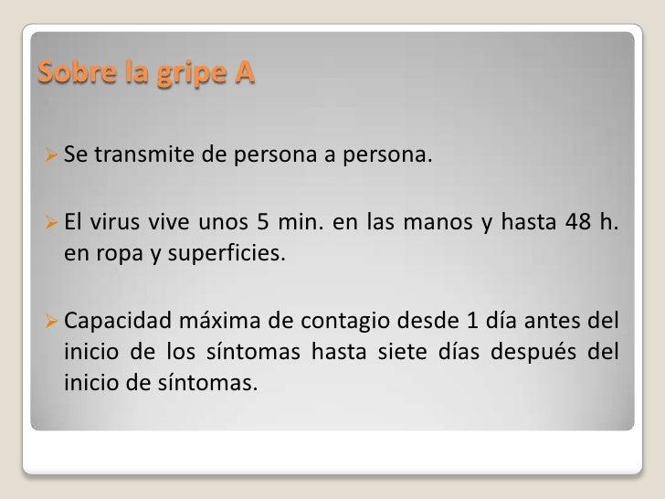 Actuaciones En El Colegio Ante La Gripe A Slide 3